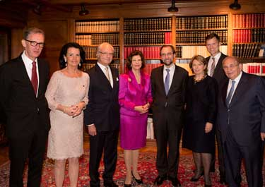 Zeid Raʿad al-Hussein and family, Swedish King and Queen, President and Secretary-General of Swedish Bar Association